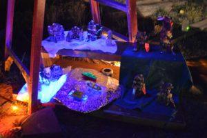 Blacklight Fairy Village